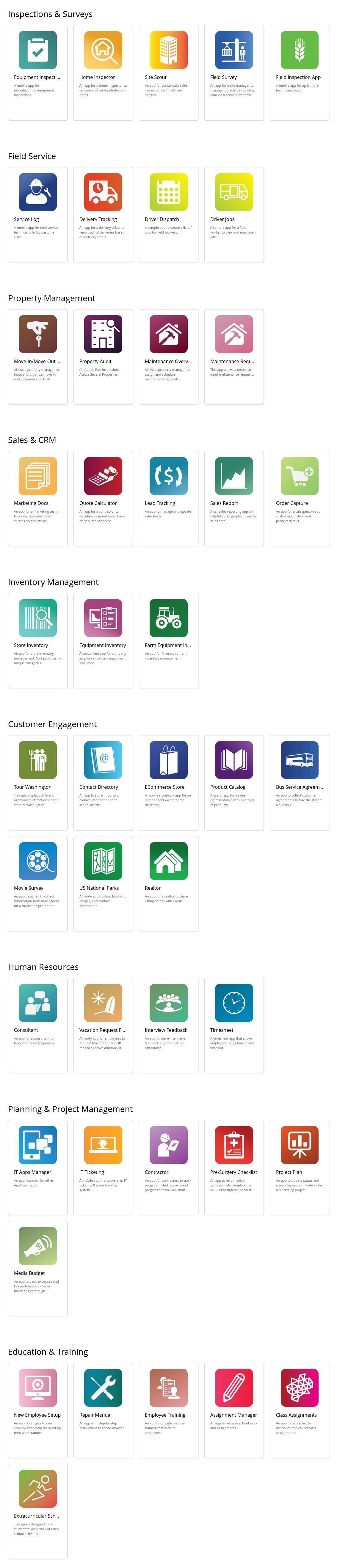 Sample Mobile Apps