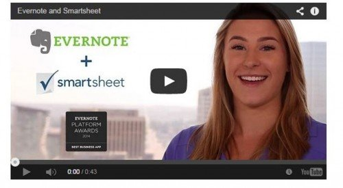 New in Smartsheet: Attach from Evernote