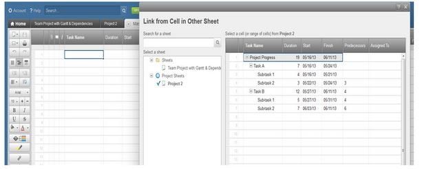 Smartsheet How To Use Cell Linking To Create A Master Gantt Chart