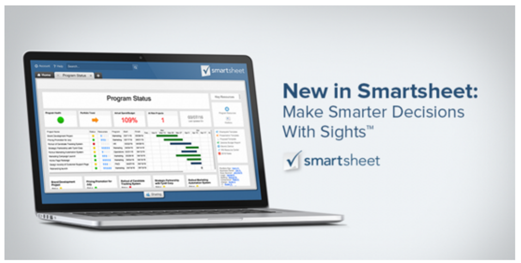 New in Smartsheet: Make Smarter Decisions With Sights