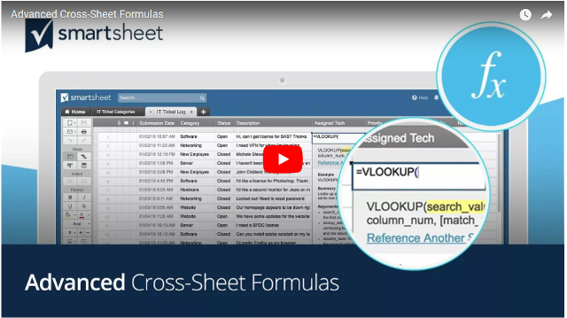 Make Smartsheet More Powerful with Cross-Sheet Formulas